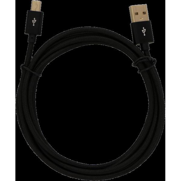 KeyMouse® - USB Cable - Mini B (Braided) - 2 Meter