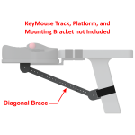 Diagonal Brace for Supporting Mounting Brackets and Platforms